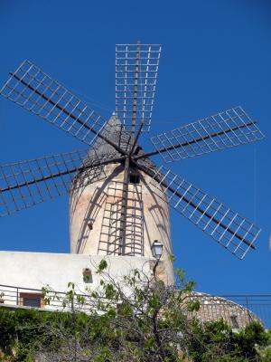 Alte nostalgische Windmühle von Palma de Mallorca
