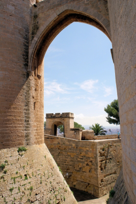 View from Castell de Bellver in Palma de Mallorca