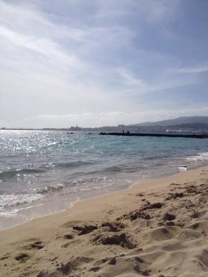 Una de las playas de Palma de Mallorca